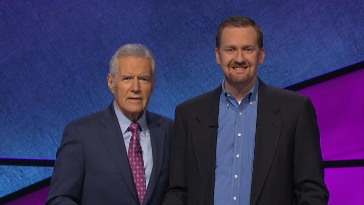 Jay Sexton with Alex Trebek