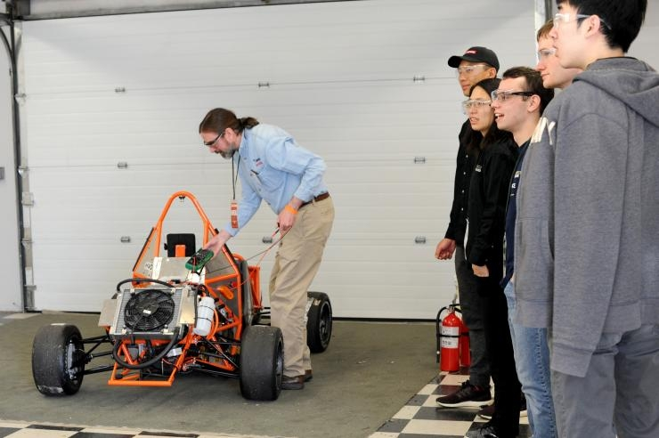 HyTech Racing vehicle undergoes electrical inspection